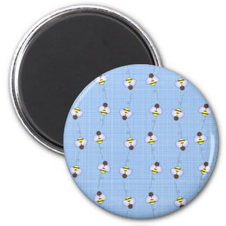 Busy Bees Pattern 2 Inch Round Magnet