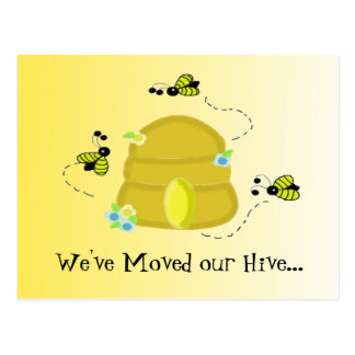 Busy Bees We've Moved Postcard