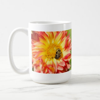 Busy Bees With Dahlia And Purple Thistle Mug