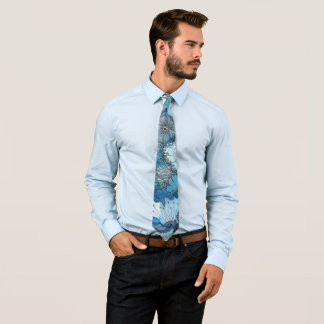 Busy Blue Neck Tie