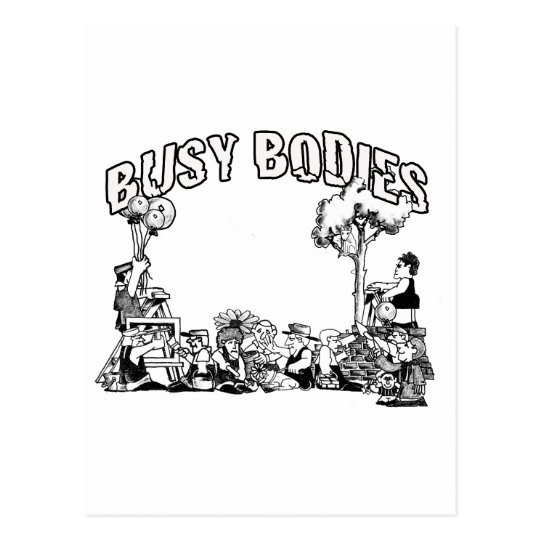 Busy Bodies Postcard