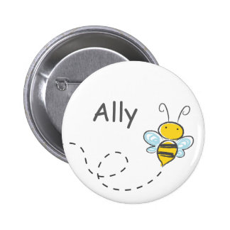 Busy Bumble Bee 2 Inch Round Button