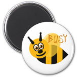 Busy Bumble Bee Cute 2 Inch Round Magnet