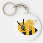 Busy Bumble Bee Cute Basic Round Button Keychain