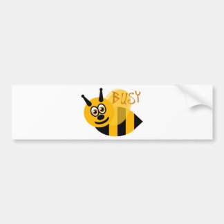 Busy Bumble Bee Cute Bumper Sticker
