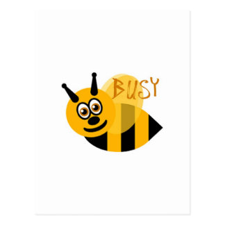 Busy Bumble Bee Cute Postcard