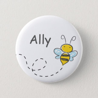Busy Bumble Bee Pinback Button