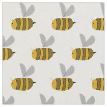 Busy bumble bees fabric