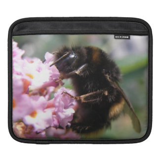 Busy Bumblebee and Pink Flowers IPad Sleeve