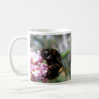 Busy Bumblebee and Pink Flowers Mug