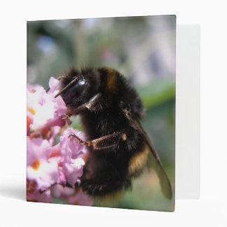 Busy Bumblebee and Pink Flowers Photo Album Binder