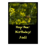 Busy Busy Bee Birthday Greeting Cards
