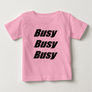 Busy Busy Busy black Baby T-Shirt