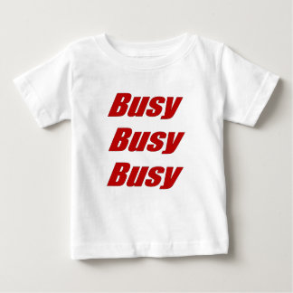 Busy Busy Busy  red Baby T-Shirt