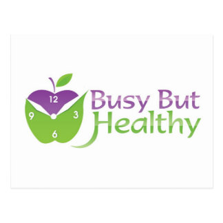 Busy But Healthy Postcard