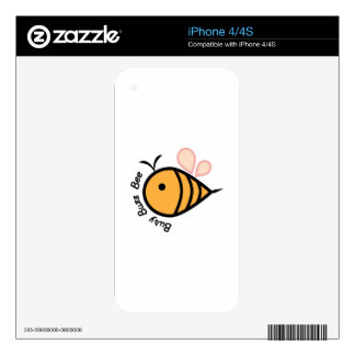 Busy Buzz Bee Skins For The iPhone 4