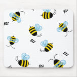 Busy Buzzing Bumble Bees Mousepad