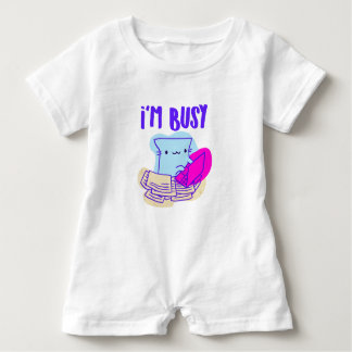 Busy Cat Baby Romper