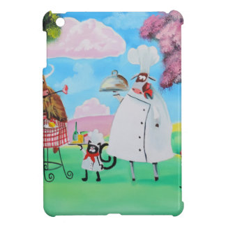 Busy Chefs cow sheep frog cat folk painting iPad Mini Cover