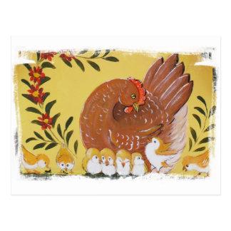 Busy Chicks Postcard