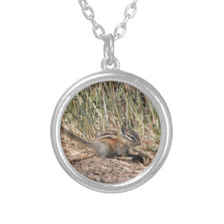Busy Chipmunk Silver Plated Necklace