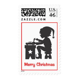 Busy Christmas Elf stamp