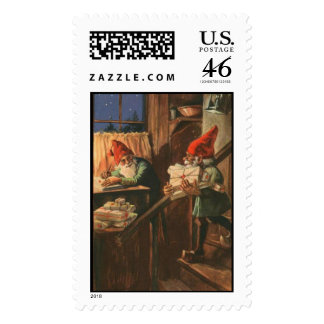 Busy Christmas Elves Postage Stamp