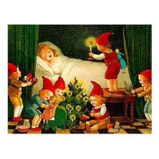 Vintage Christmas Elves Postcards | Zazzle
