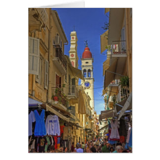 Busy Corfu Lane Card