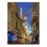 Busy Corfu Lane Post Card