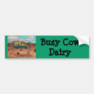 Busy Cow Dairy Car Bumper Sticker