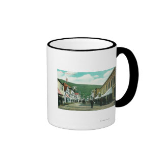 Busy Day on Third Street View Mug