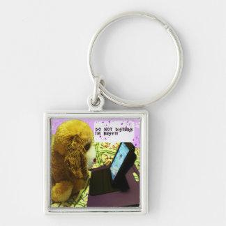 busy dog keychain