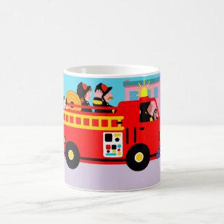 Busy Fire Truck Classic White Coffee Mug