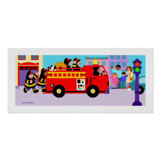 Busy Fire Truck Posters