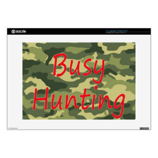 """Busy Hunting 15"""" Laptop Decal"""