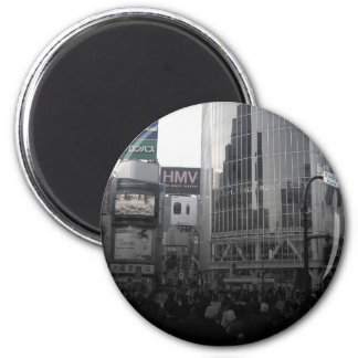 Busy intersection in Tokyo 2 Inch Round Magnet