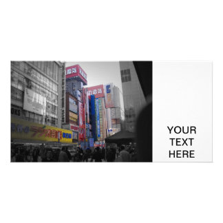 Busy intersection in Tokyo Photo Greeting Card