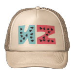 Busy Kiwi Blue and Pink Mesh Hat