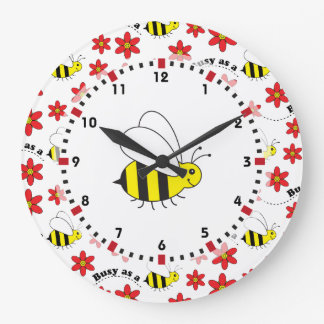 Busy Little Bumble Bee Large Clock