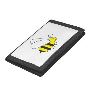 Busy Little Bumble Bee Tri-fold Wallets