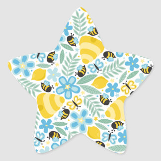 Busy Little Honeybees Star Sticker