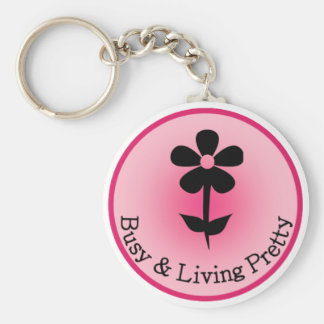 Busy Living Pretty Official Logo Keychain
