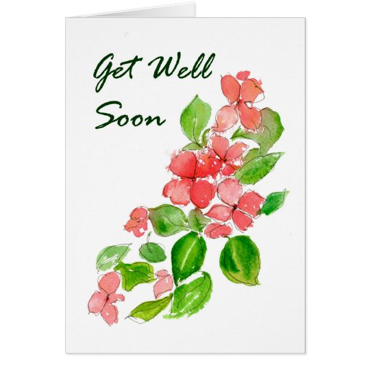 Busy Lizzie Get Well Card