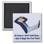 Busy Man 2 Inch Square Magnet