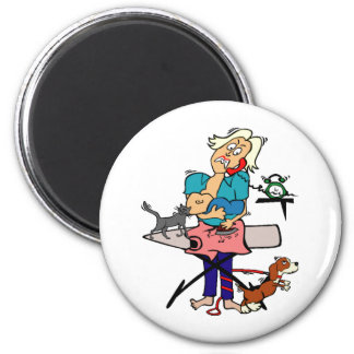 Busy Mom 2 Inch Round Magnet