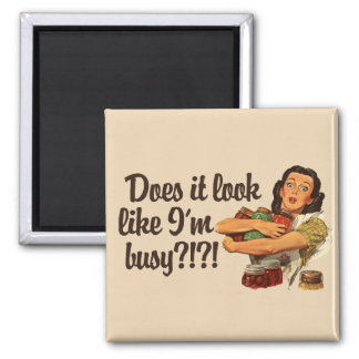 Busy Mom 2 Inch Square Magnet