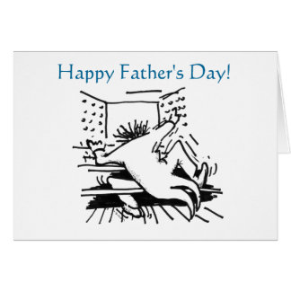 Busy organist Father's Day card