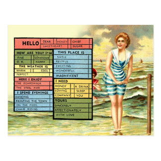 Busy Person's Seaside Greetings Postcard