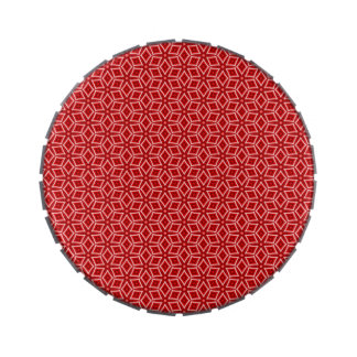 Busy Red Diamonds Candy Tin